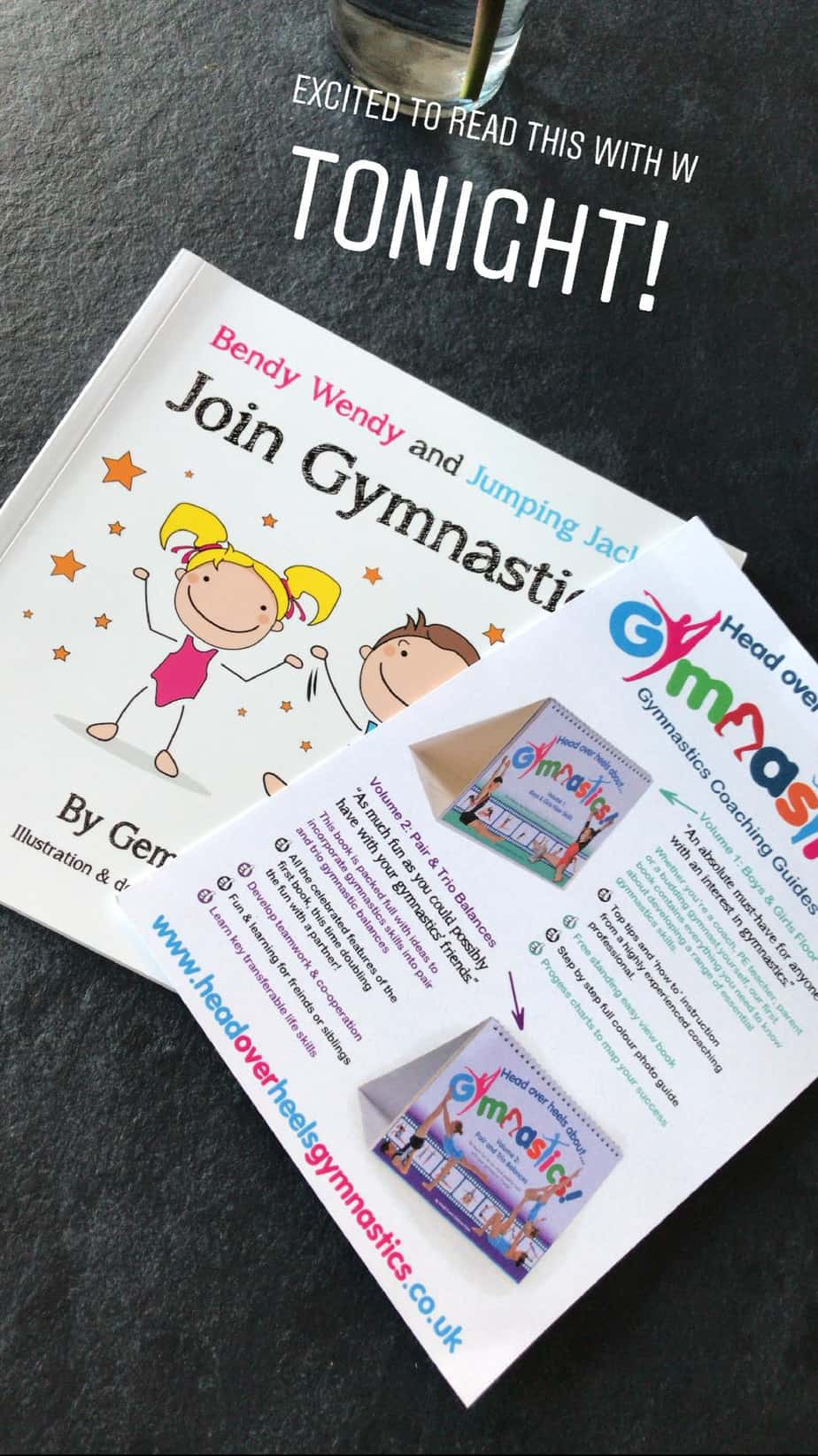 A children's book all about starting a new gymnastics class for Head over Heels Gymnastics
