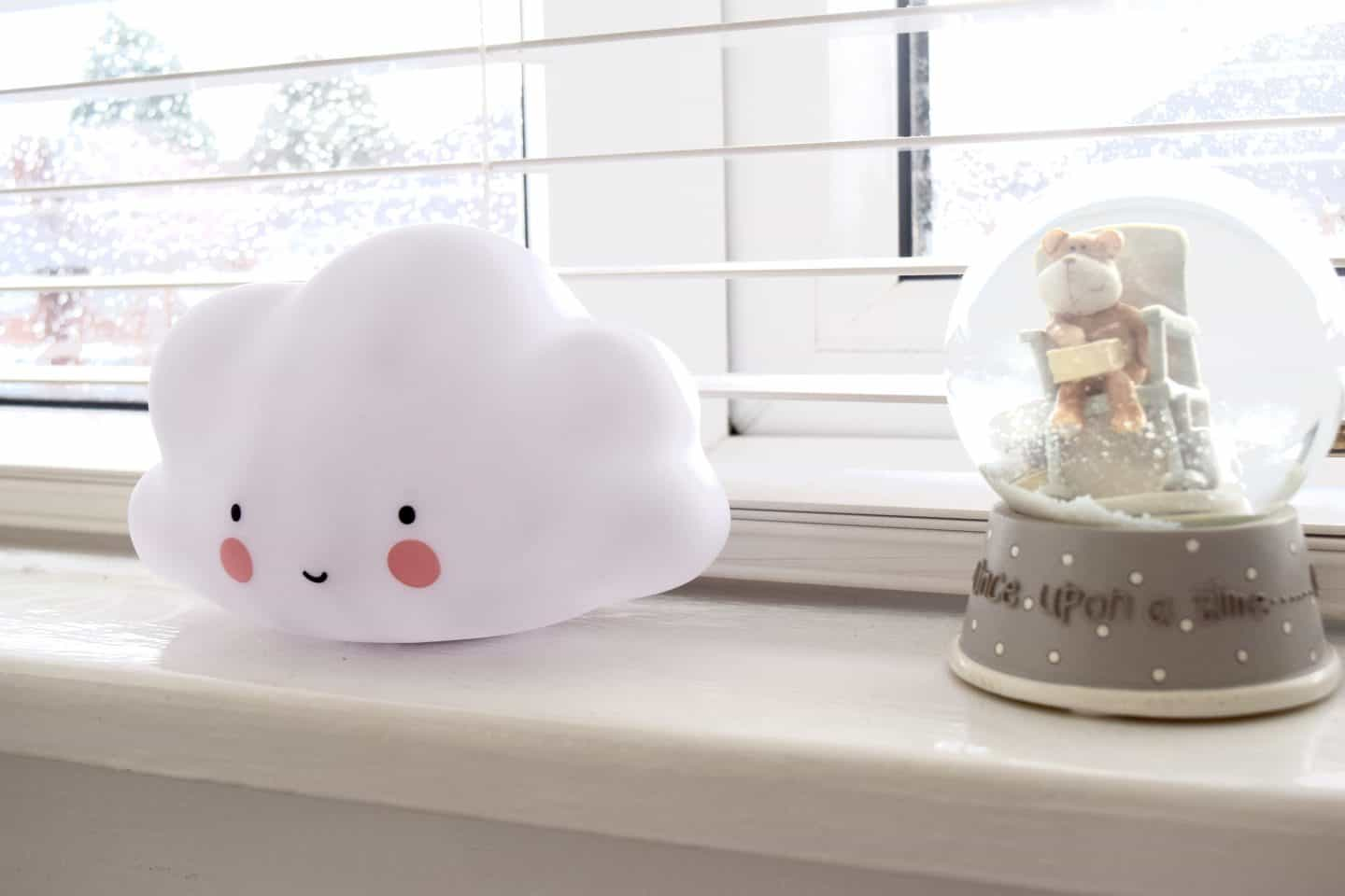 Cloud night light to feature in loud nursery and to match cloud wall sticker