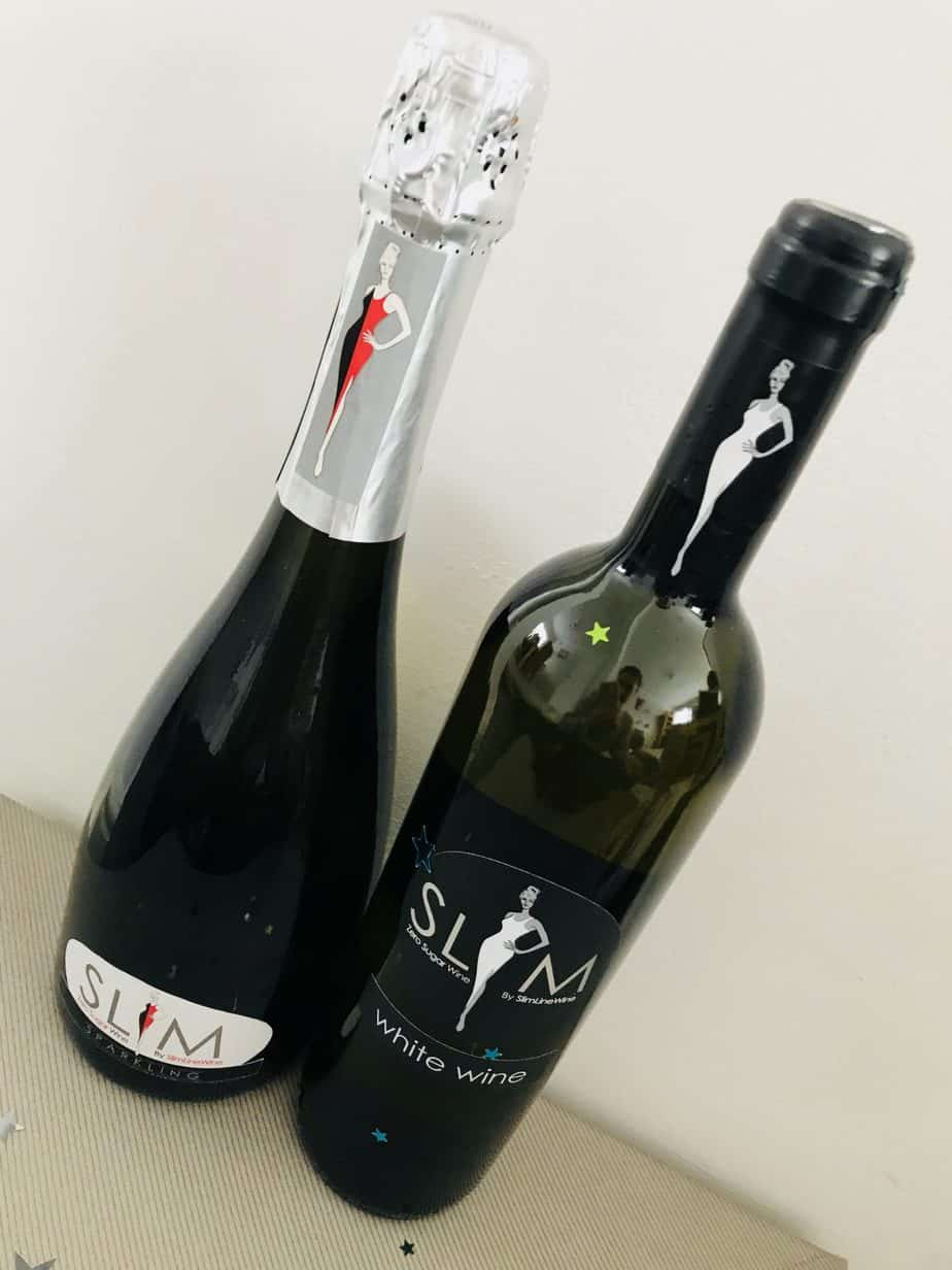 Two bottles of the slimline wines