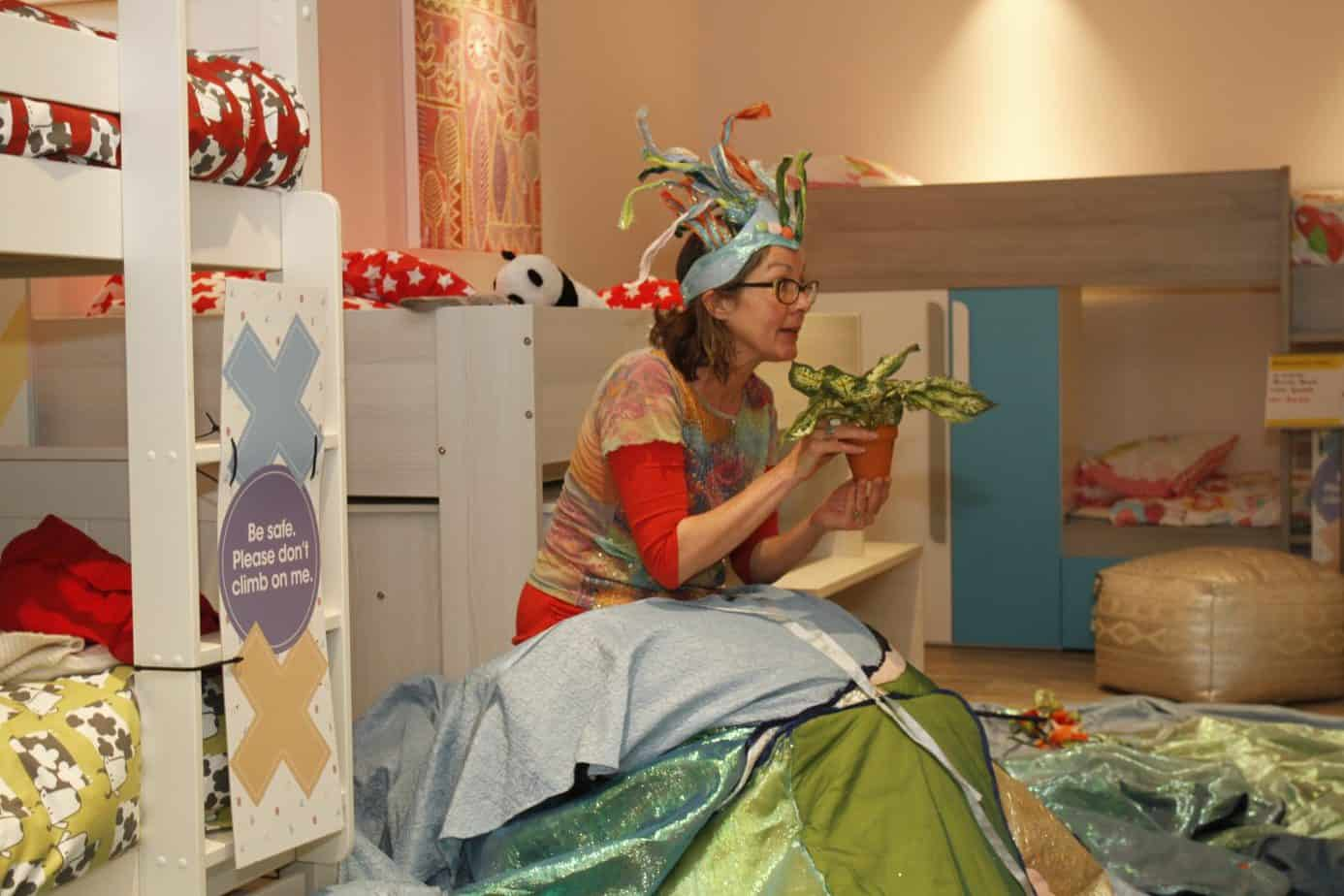 Sorry telling at the bedtime story event at benson for beds