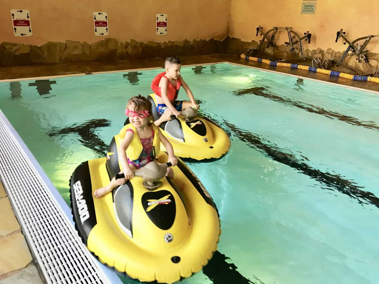 mini jet skis at Sherwood Forest Center Parcs