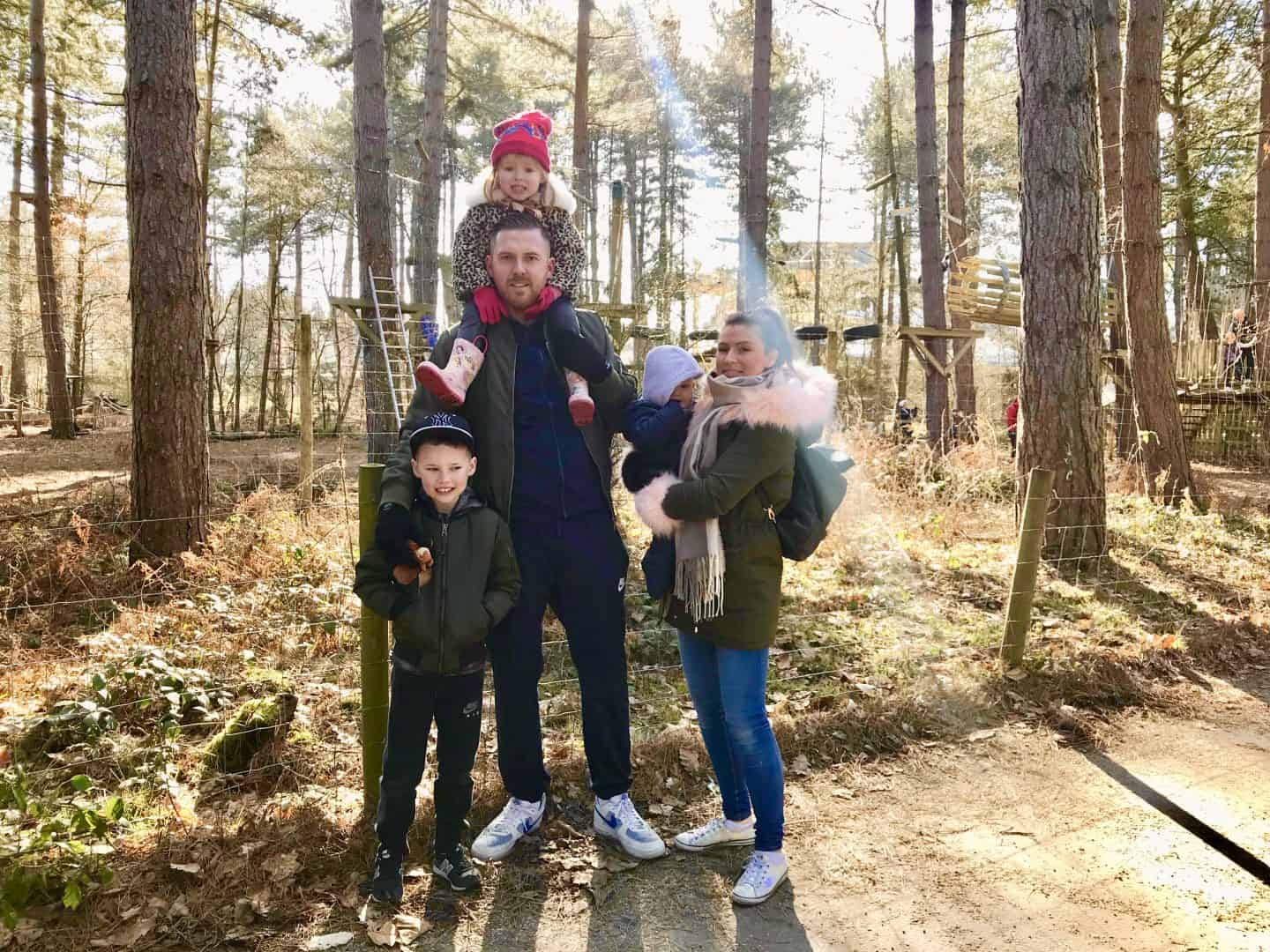 Us 5 in the forest at centre parcs