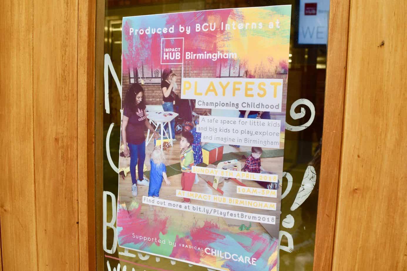 Poster for Platfest at Impact Hub Birmingham