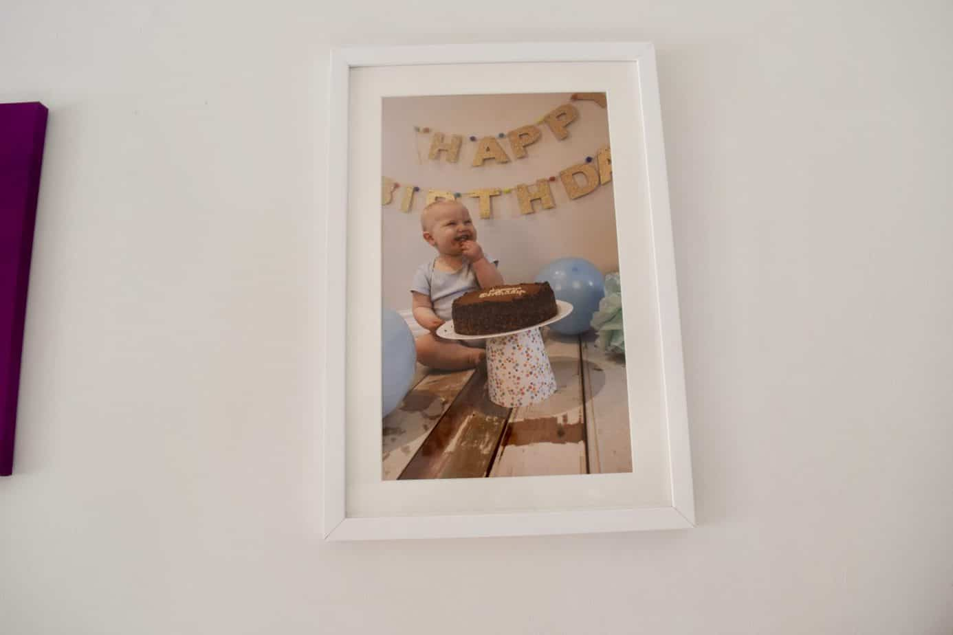Framed picture of Baby K cakesmash