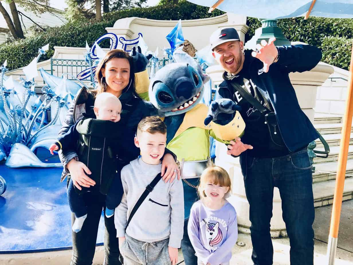 Us 5 meeting Disney Characters - one called Stitch