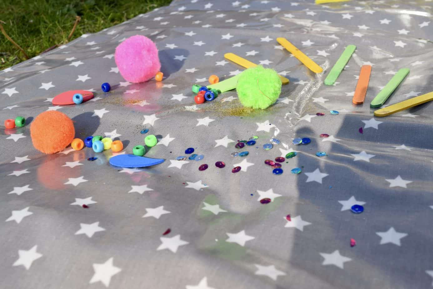 Lots of crafts on the messy me splash mat