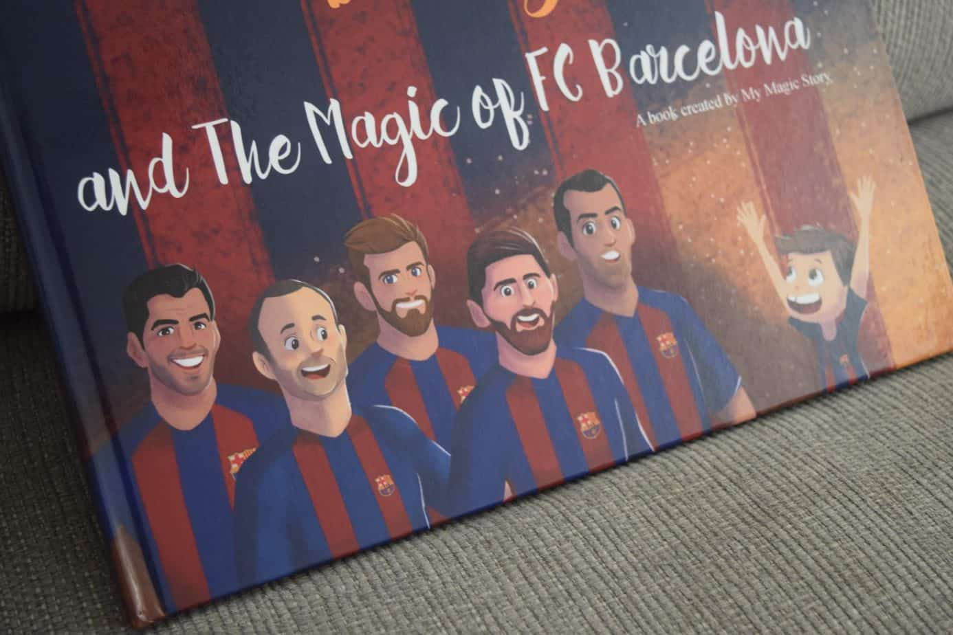 The personalised football book on Barcelona FC from The Magic Story