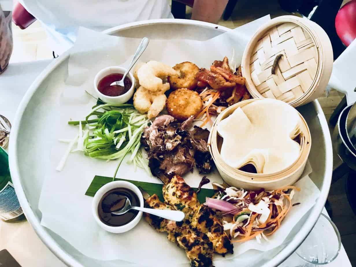 Our asian sharing platter provided at Bank restaurant using our Buckt subscription box