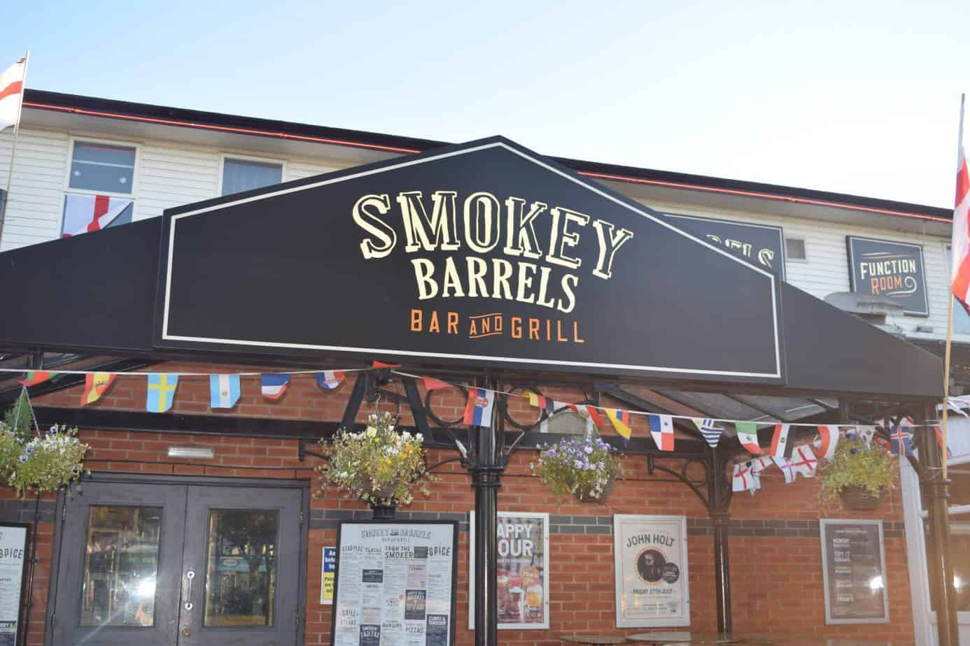 Entrance to Smokey Barrels in Birmingham