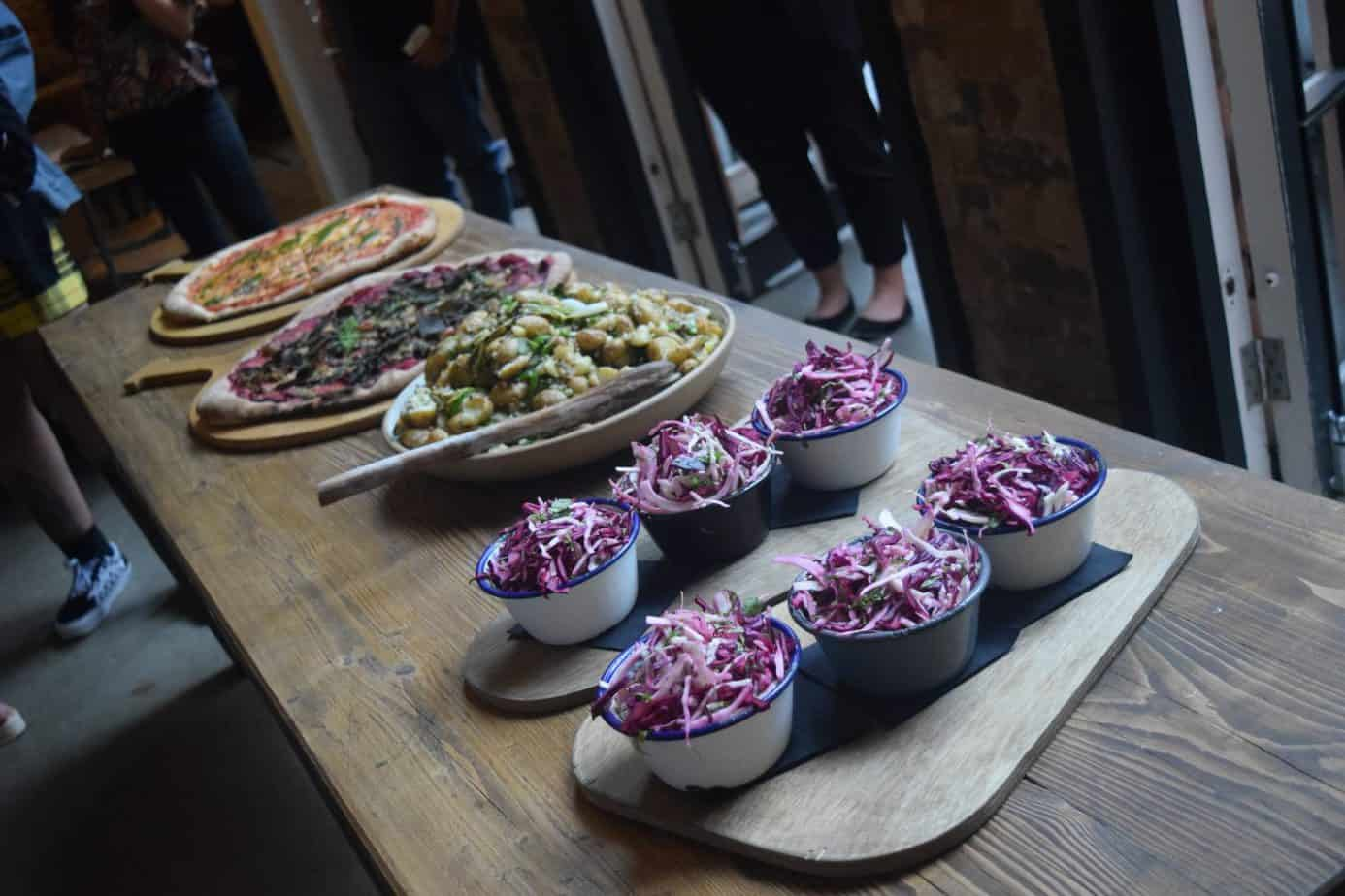 The food offered at Yorks Cafe during our Giffgaff Gameplan event in Birmingham