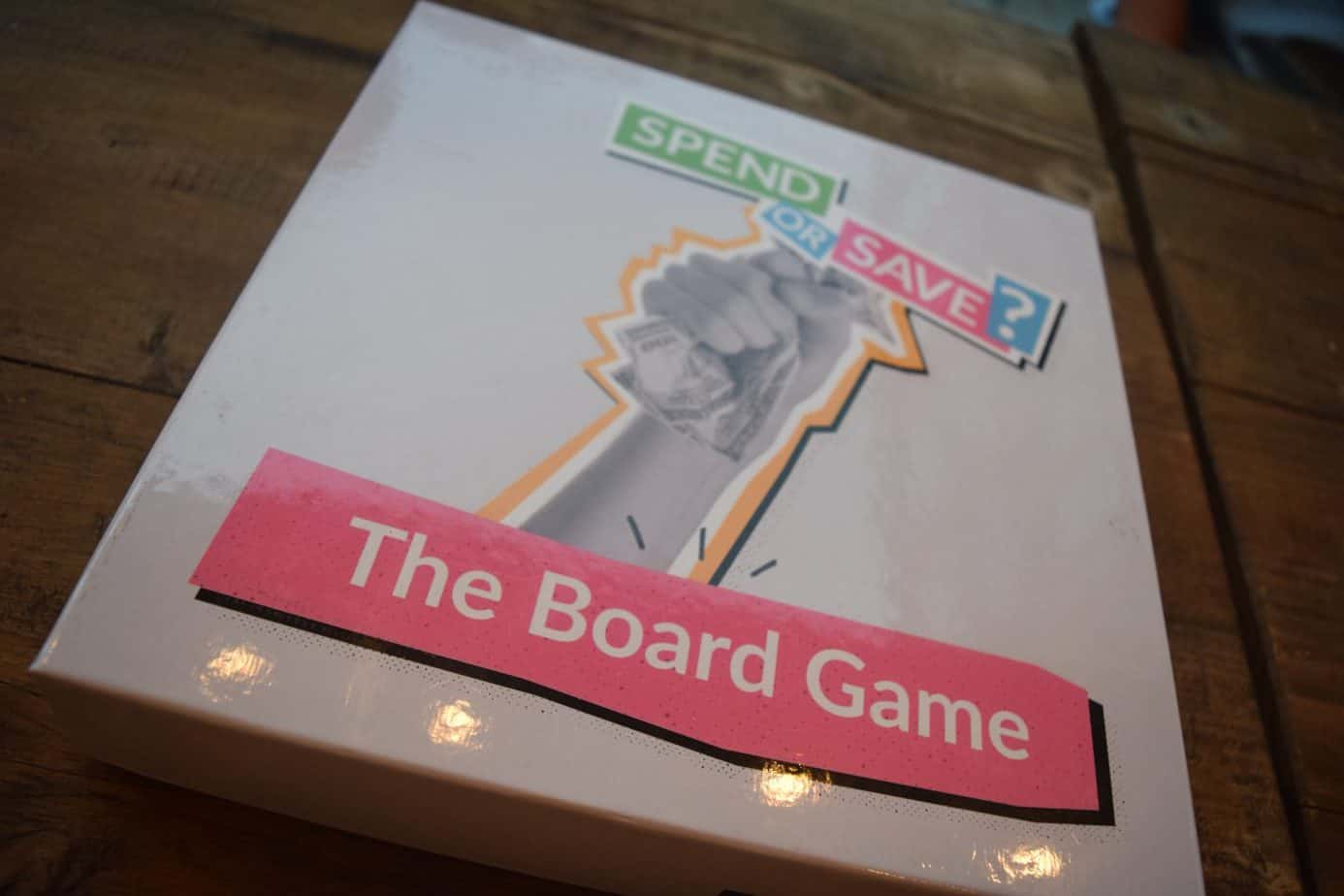 The Giffgaff Gameplan Spend or Save Board game box