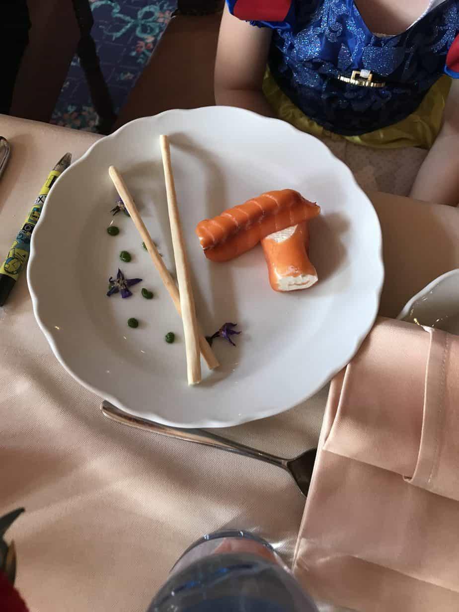 smoked salmon and cream cheese children's starter