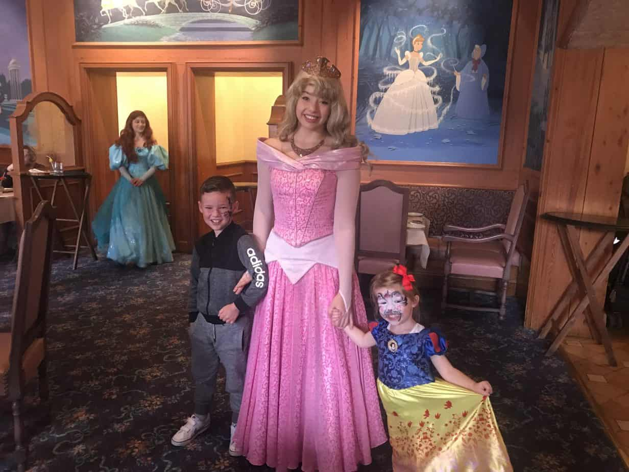 B and W meeting Princess Aurora