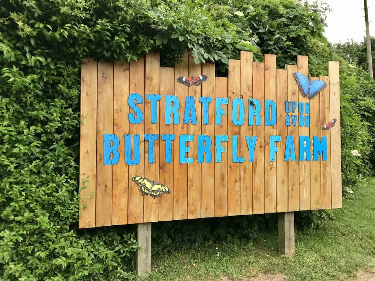Entrance to the Butterfly farm, an activity offered in our June Buckt box