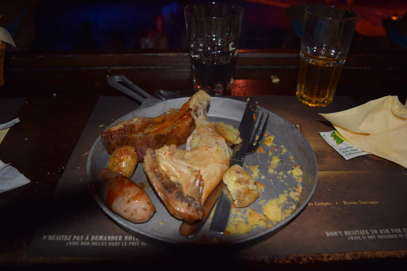 The Texas Skillet provided at the Wild west show