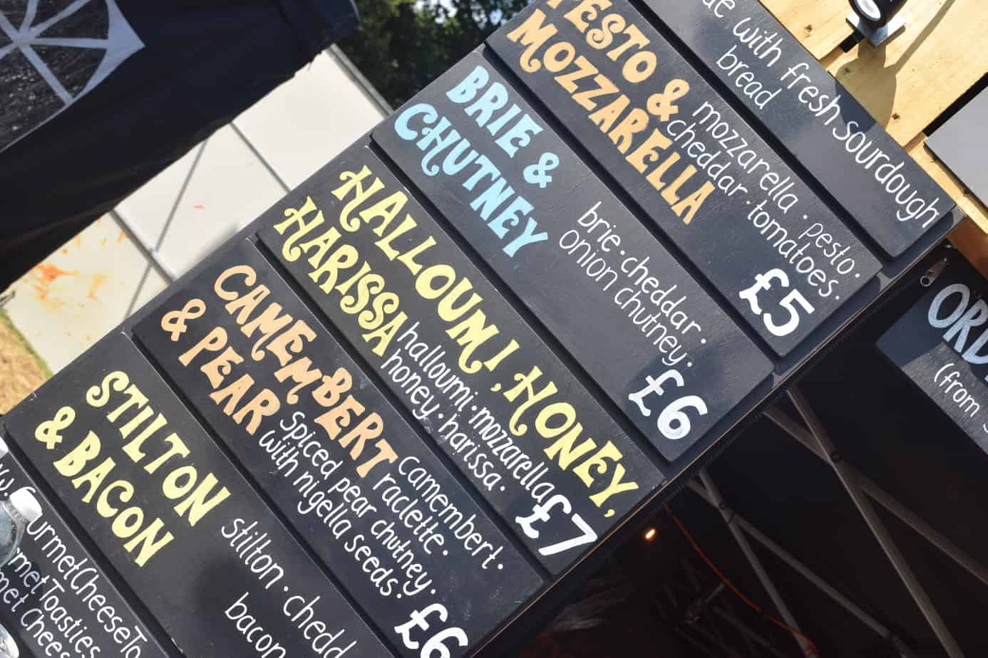 food stall menu a solihull summer fest
