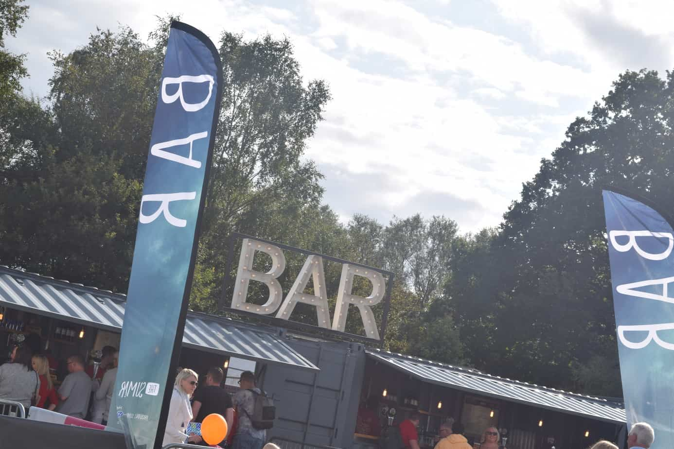 The bar at solihull summer fest