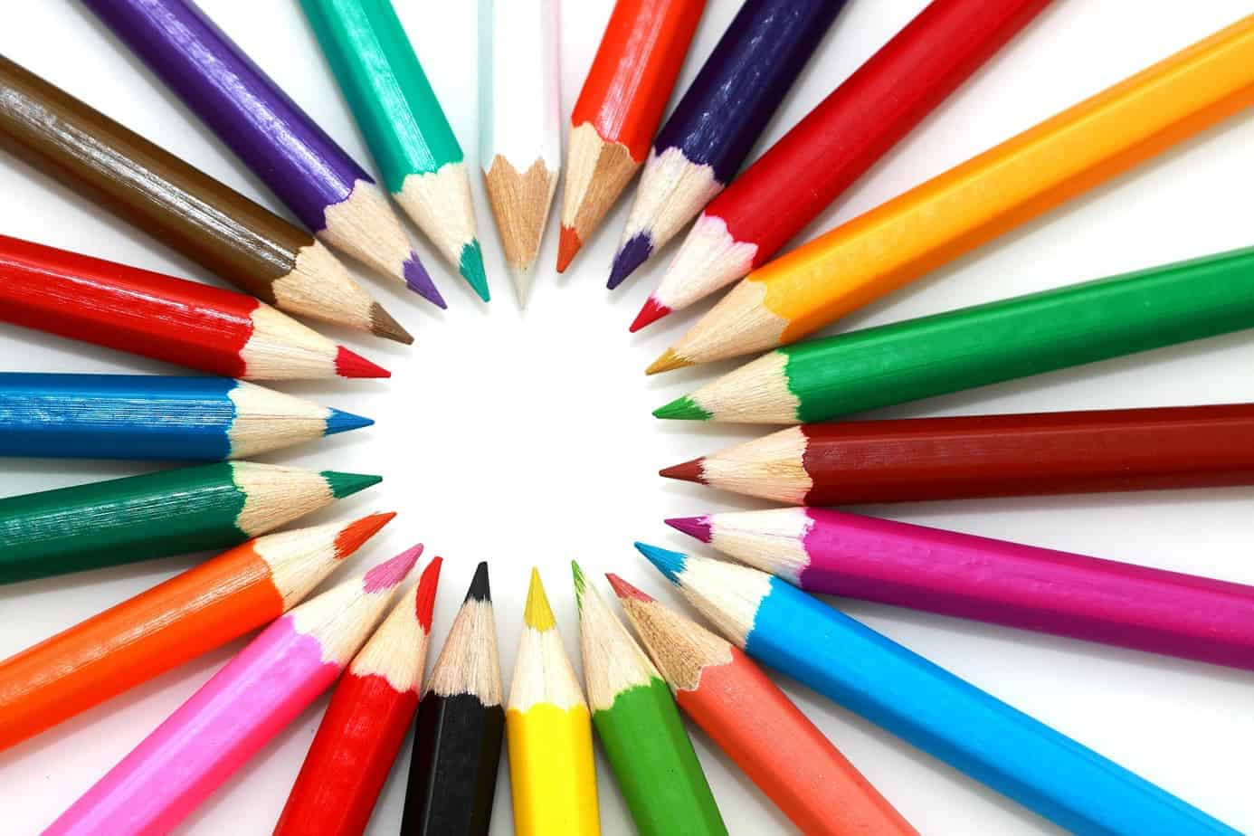 several colouring pencils to use to make a poster when the kids are bored at home