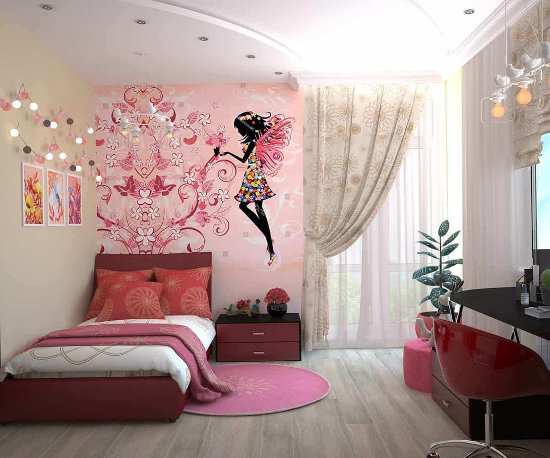 Childrens bedroom with laminate flooring and a rug is another idea to have quick bedroom makeover for kids