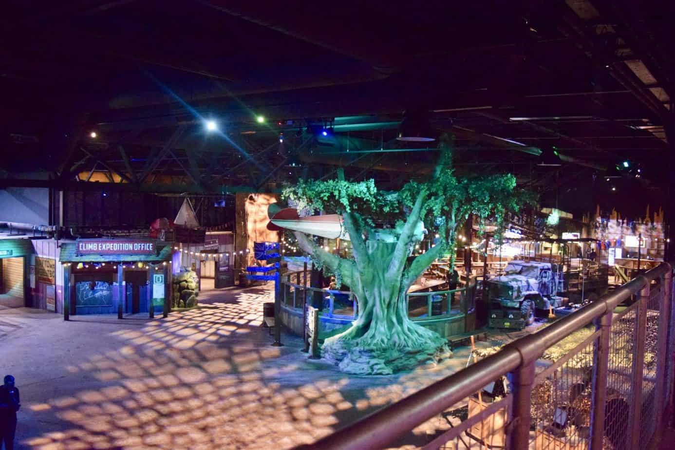 The main lobby at Bear grylls adventure