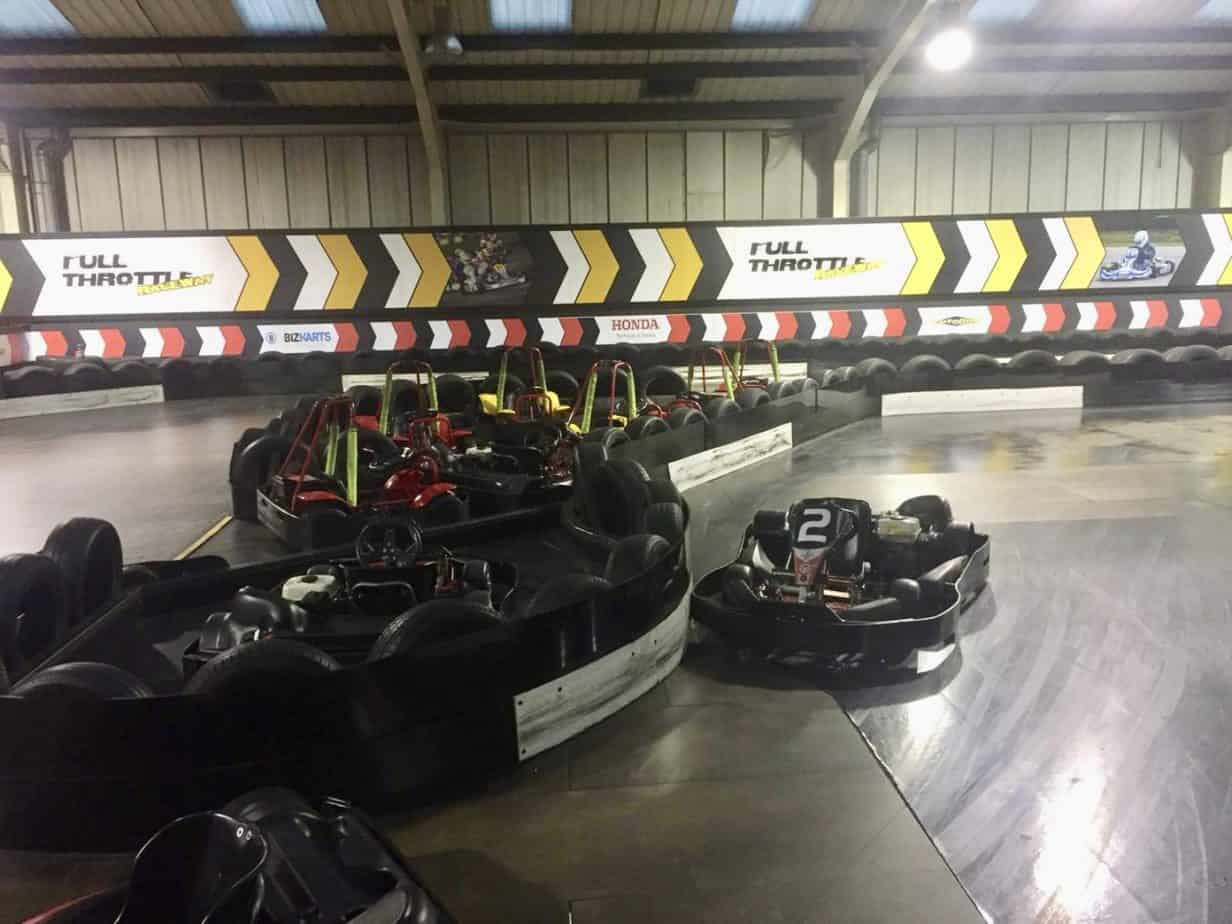 The race track at Full Throttle Race way, an activity provided by Buckt