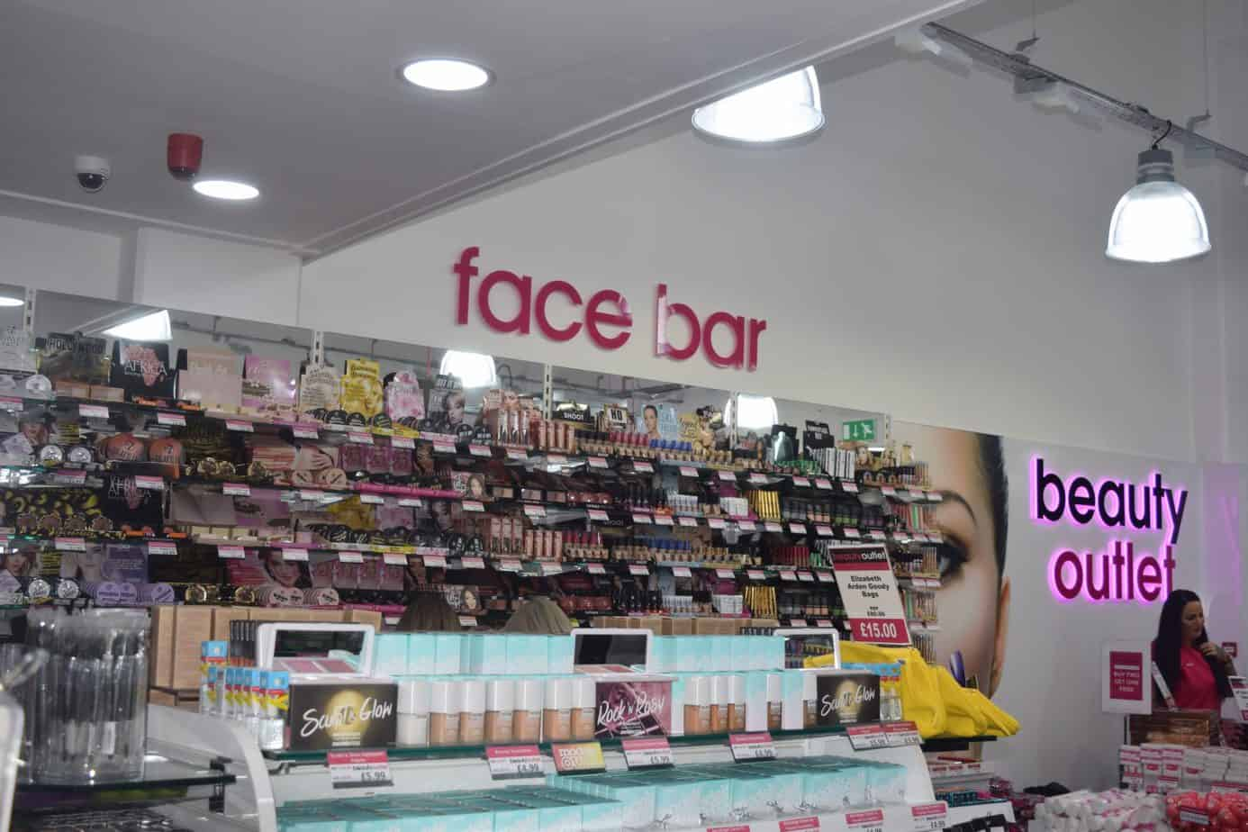 The face bar at the beauty outlet at resorts world birmingham