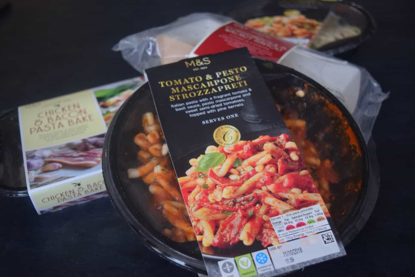 A close up of our pasta dishes from Marks and Spencer's Italian Range