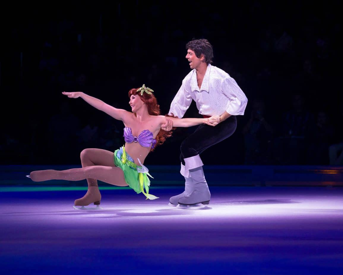 The Little Mermaid and Eric on the ice