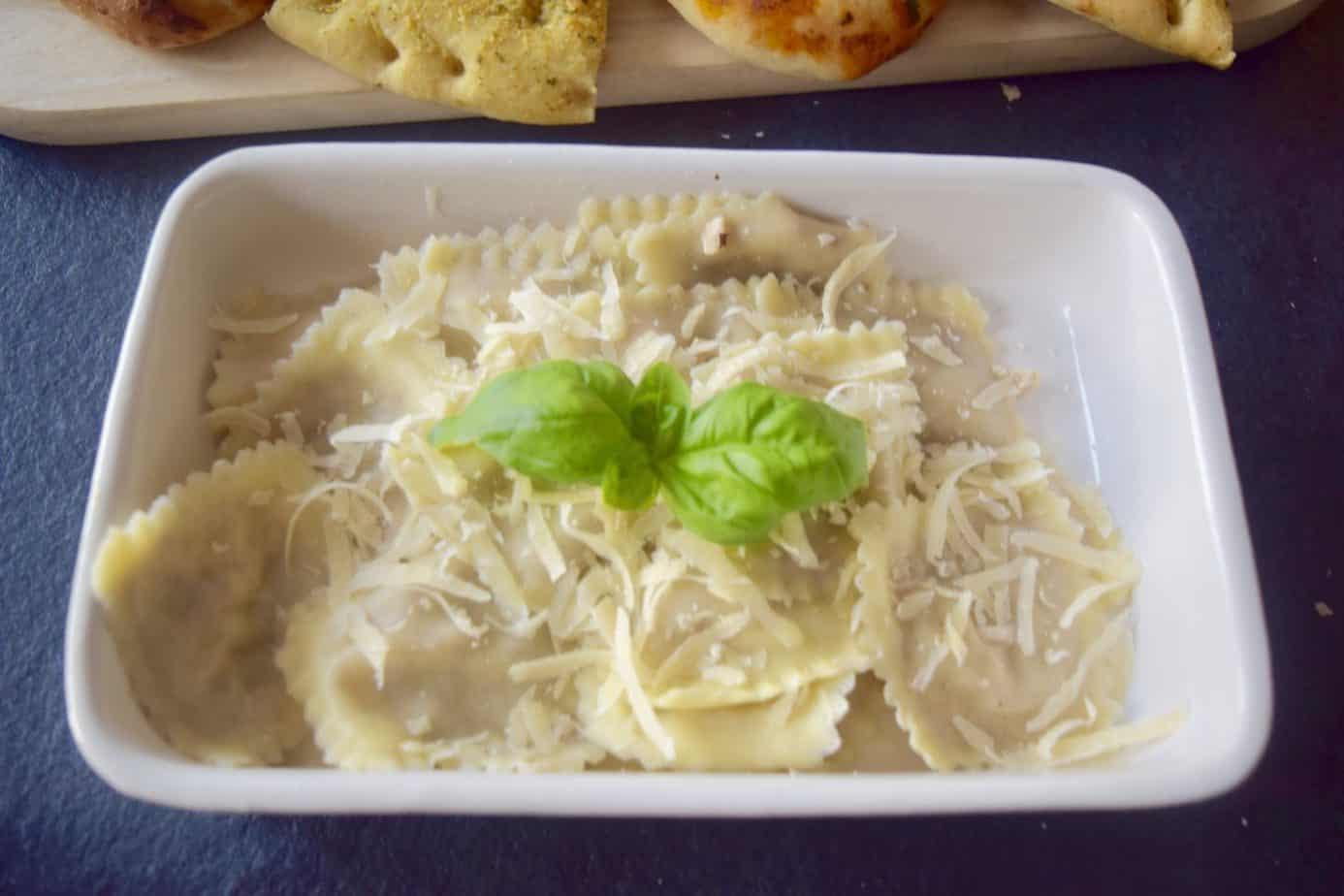 Walnut and Gorgonzola ravioli from the Marks and Spencer's Italian range