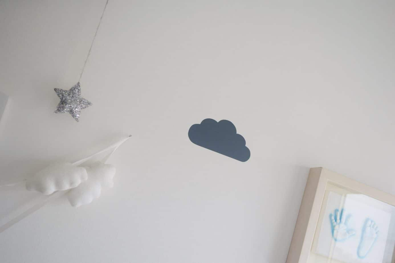 close up of a cloud wall sticker