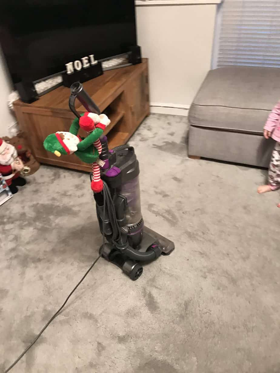 Elf on the shelf ideas - hoovering!