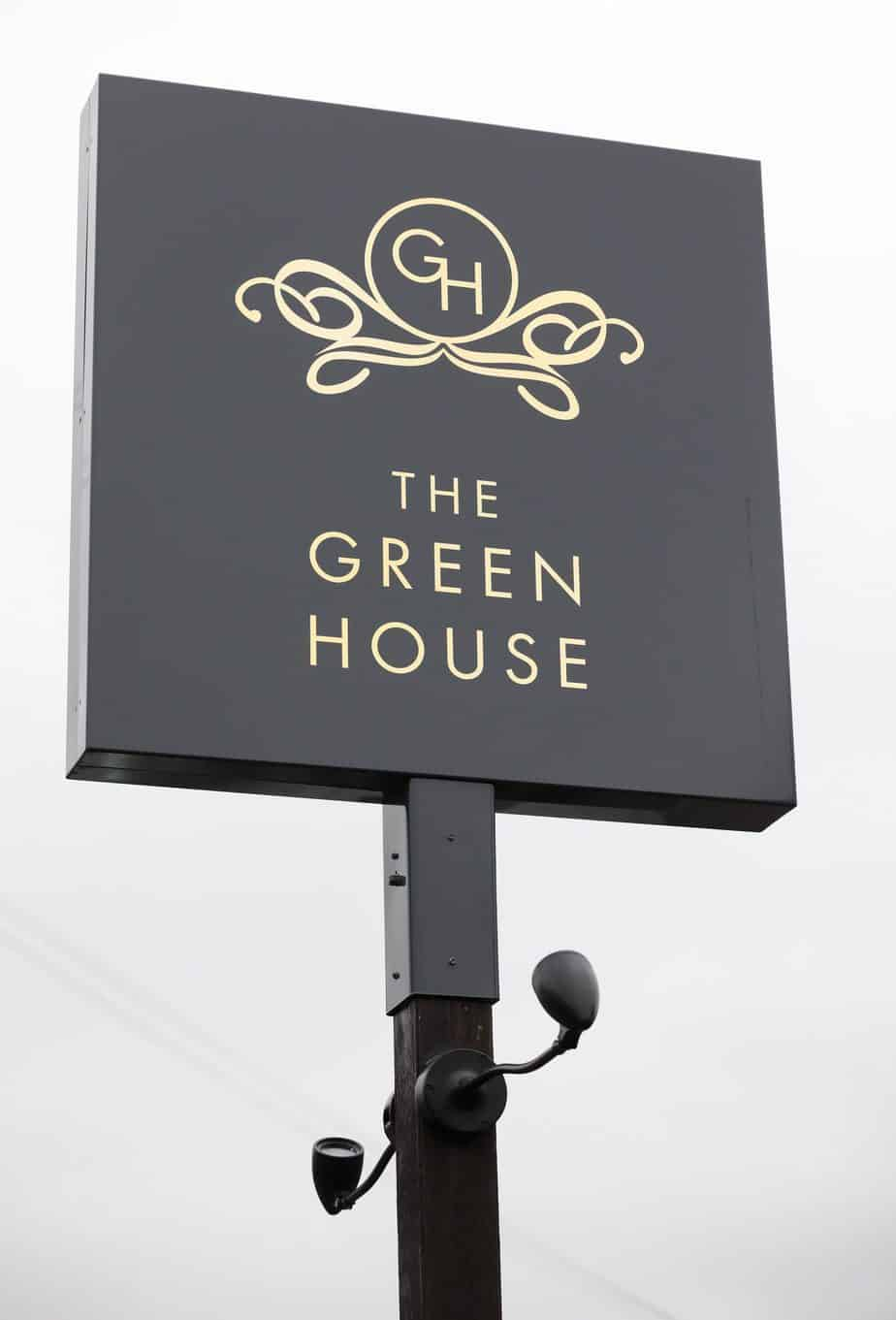 The Green House Pub in Sutton coldfields sign