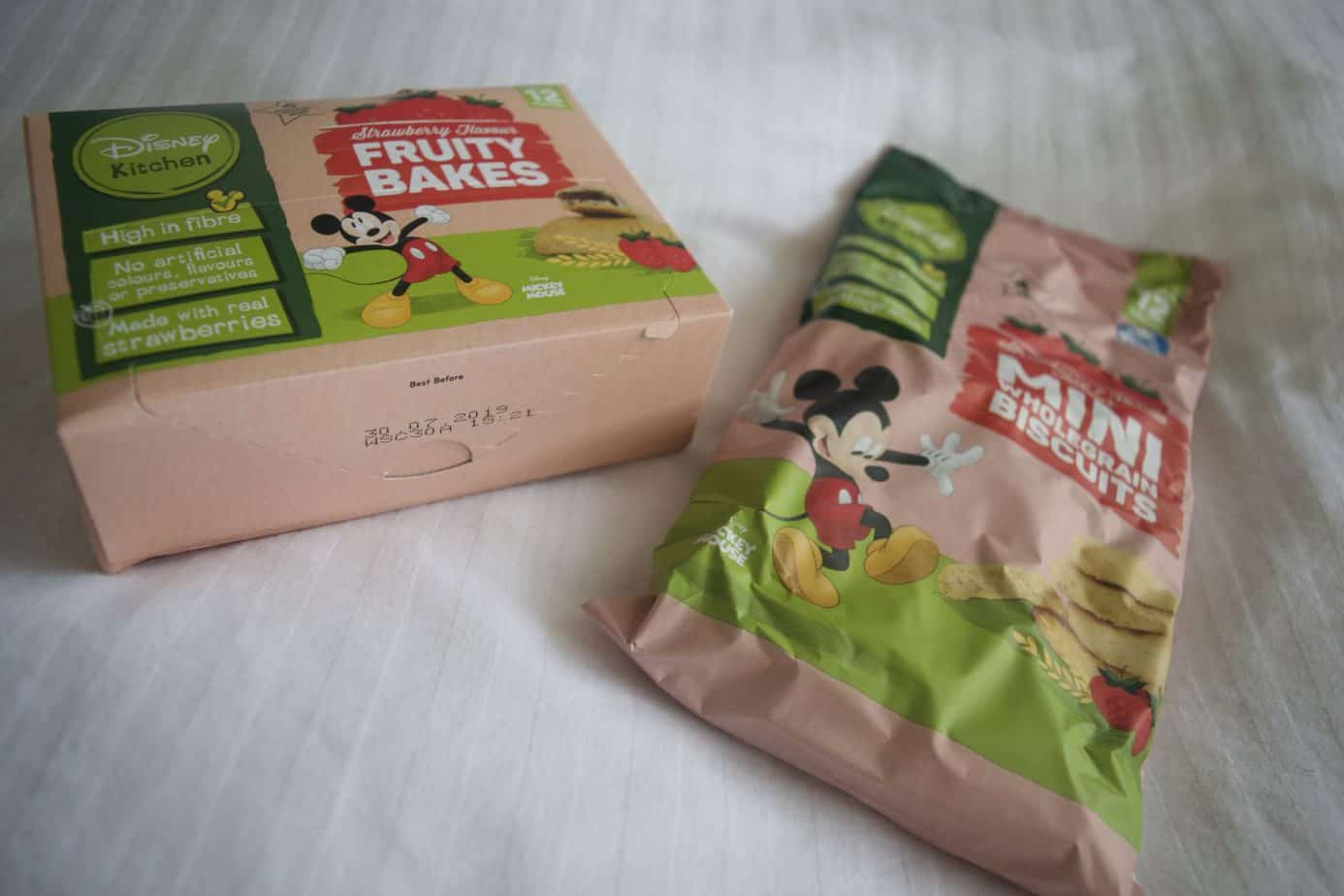 disney snacks from poundland mini biscuits and fruity bake bars