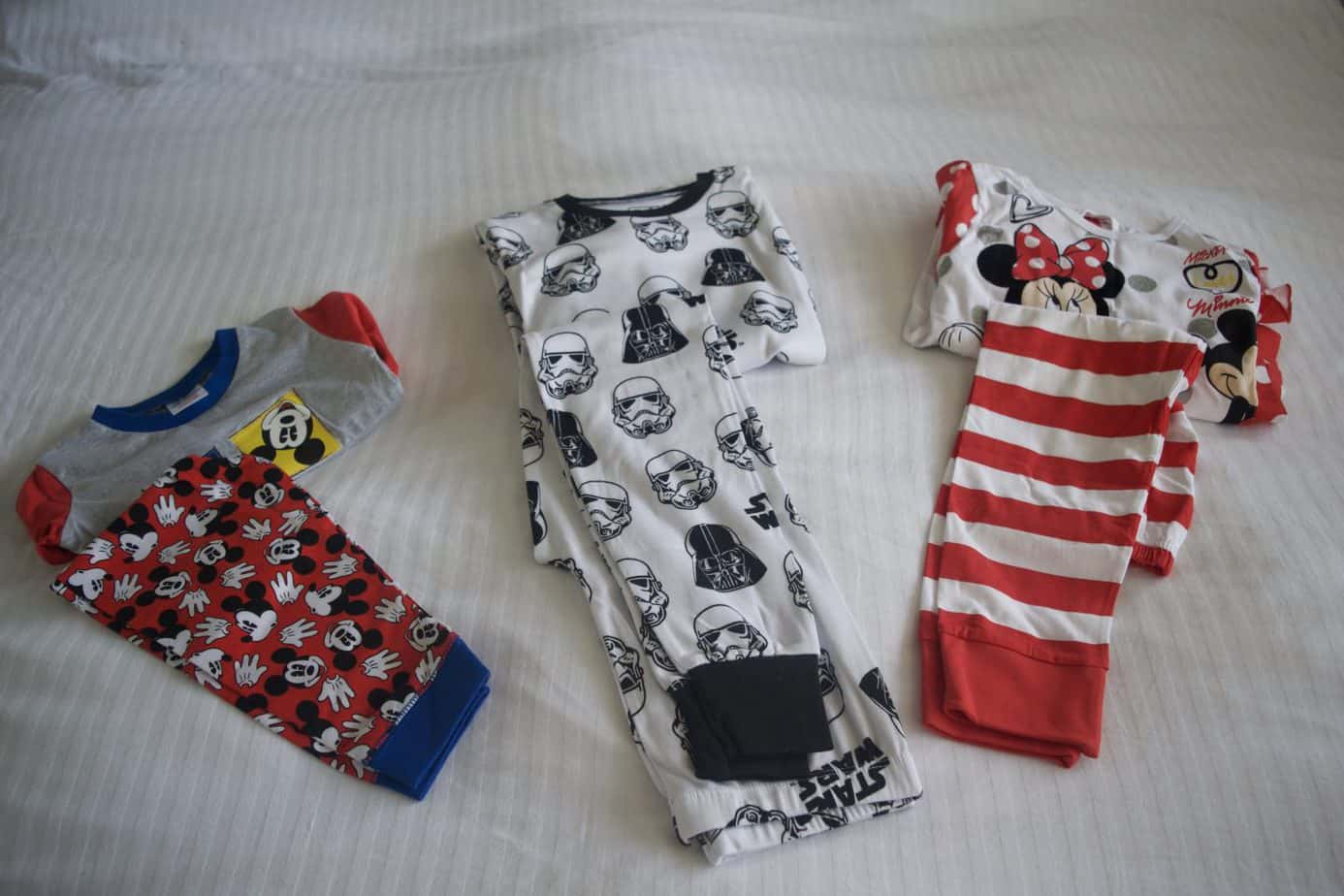 3 sets of PJ's for our Disney reveal box