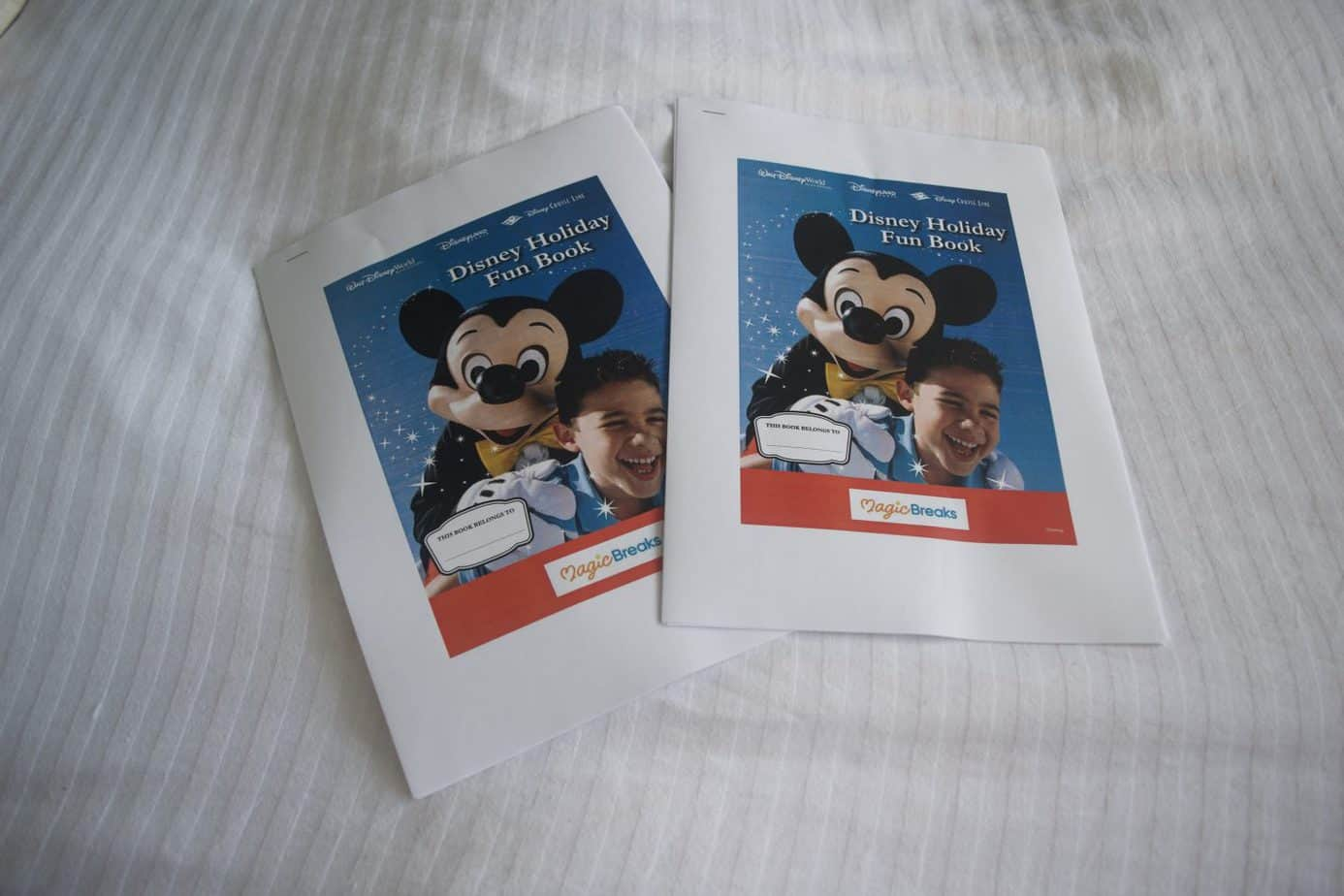 Magic breaks disney activity booklets