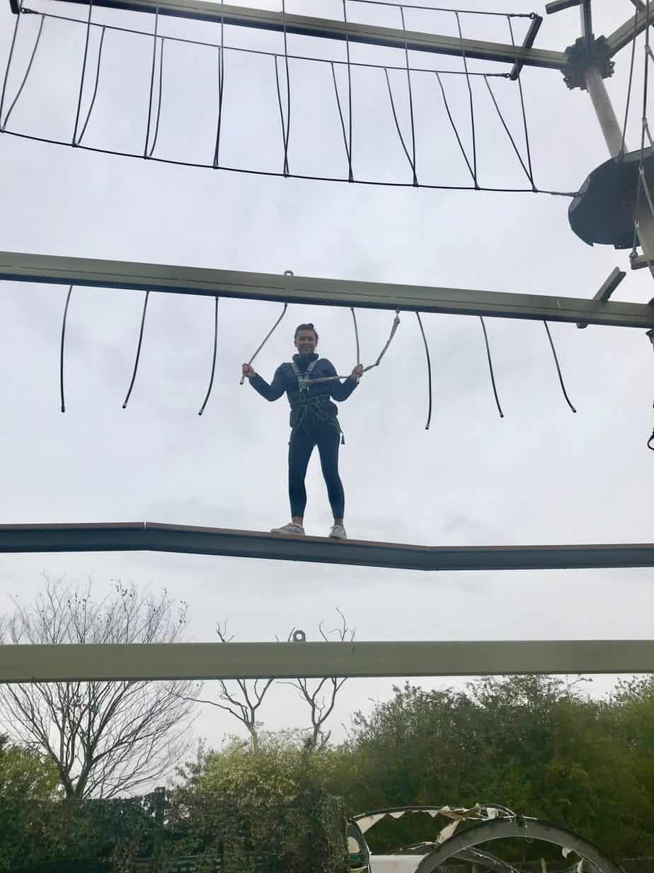 Me on the sky trail at planters in our buckt box