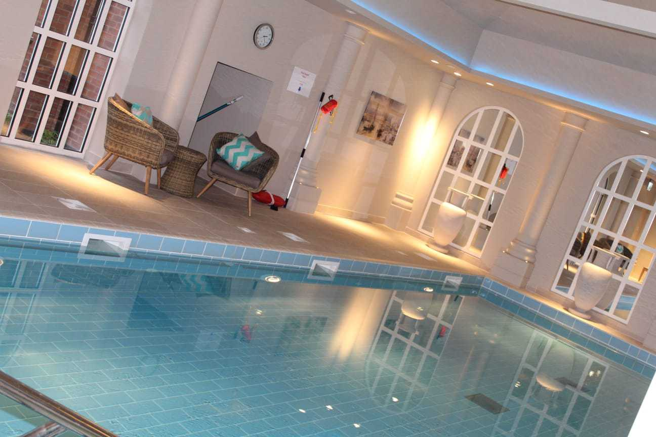 The luxury spa and pool at St George's Place, Birmingham