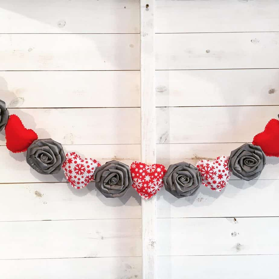 Stunning Shabby Chic Heart and Rose Garland The Grey Company Interiors