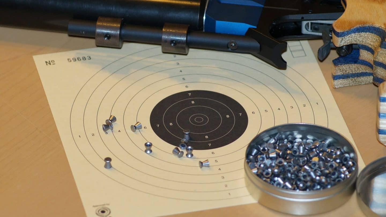 Air rifle shooting board