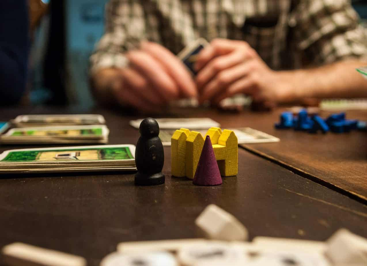 One of this months activities on offer with Buckt - Birmingham's only activity subscription box close up of a board game in a pub