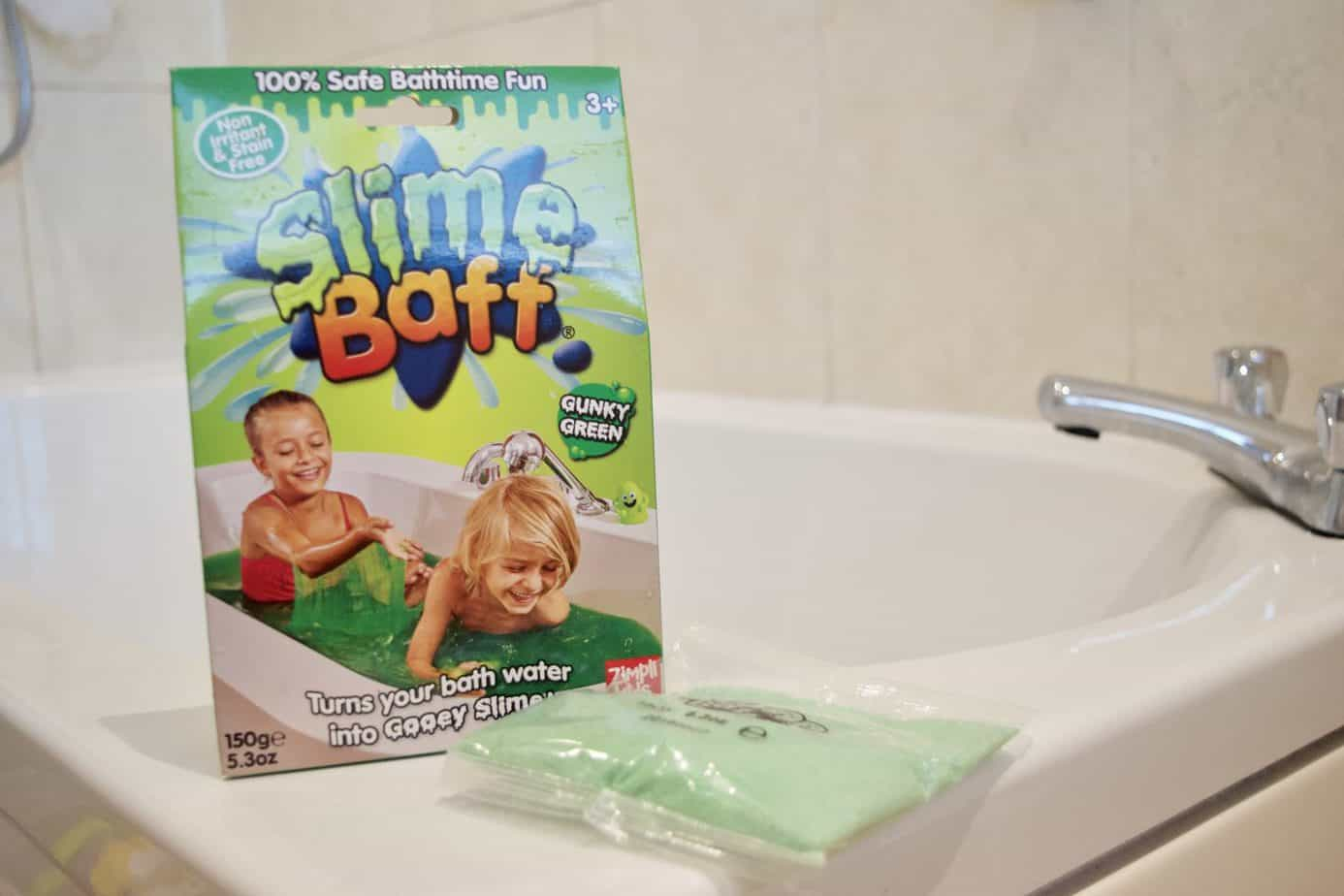 slime baff on the side of our bath