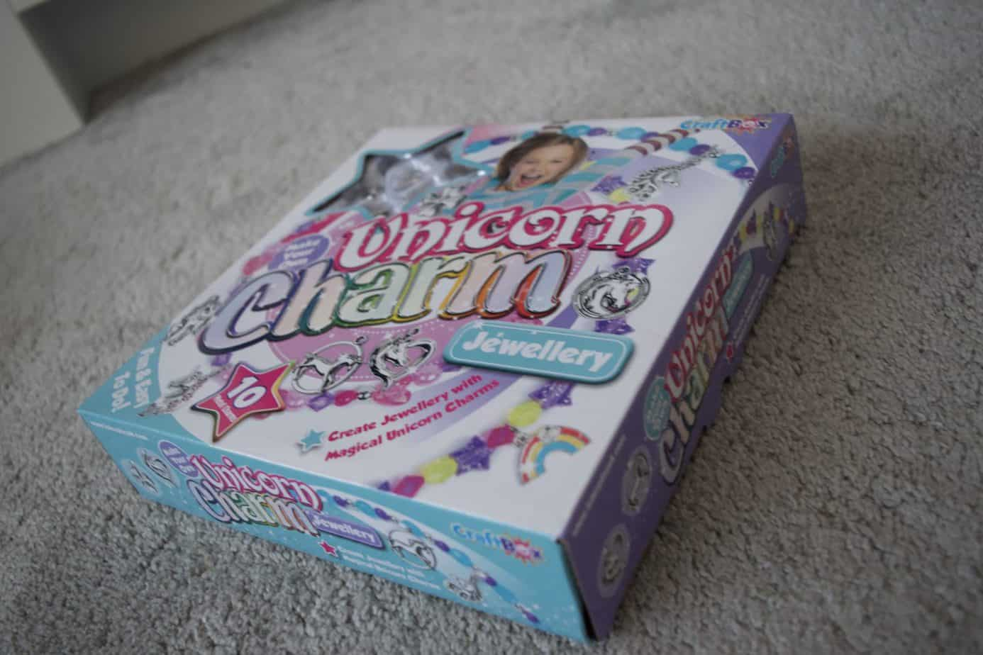 Unicorn charm jewellery making kit box unopened