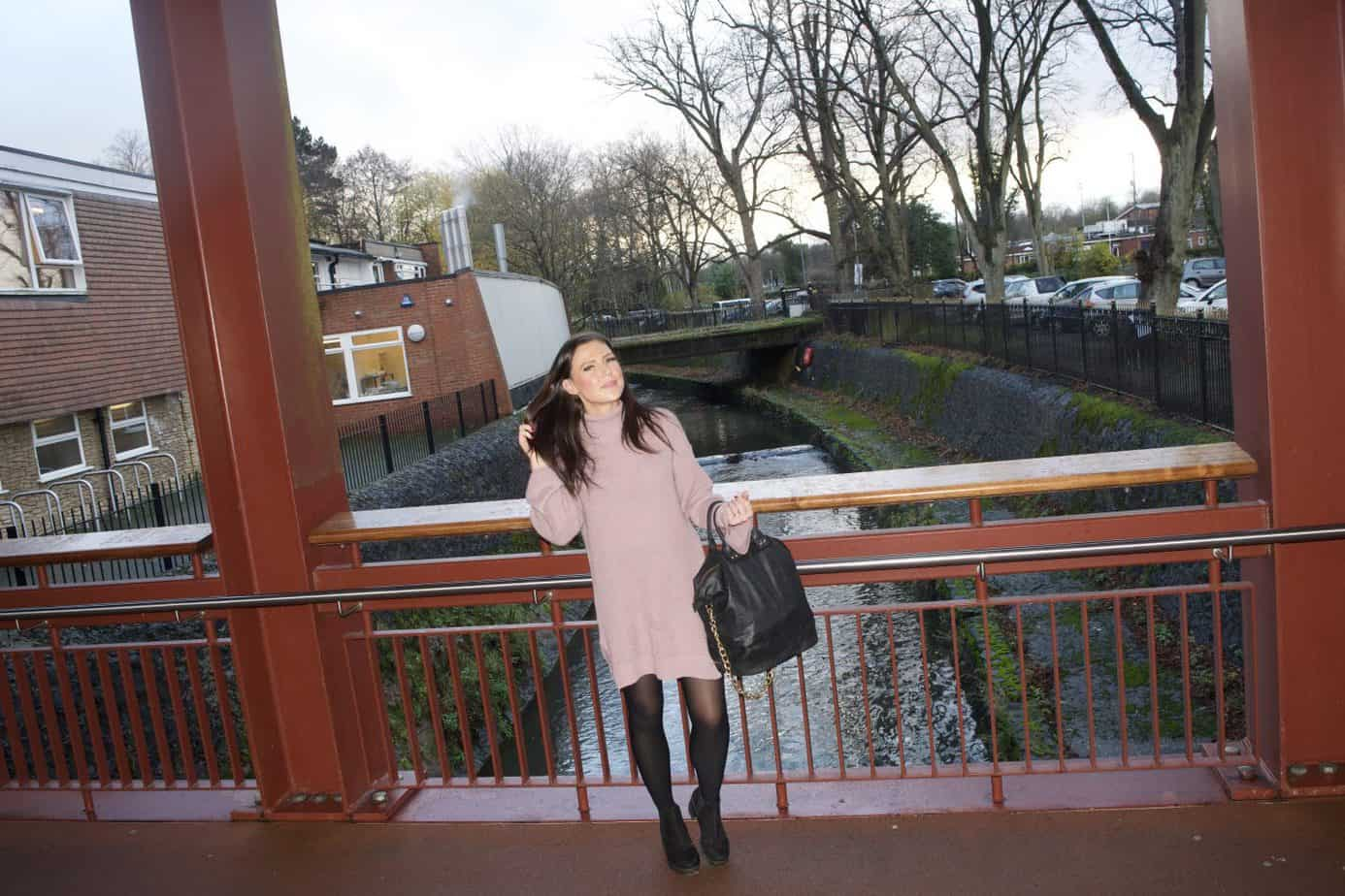 My perfect causal wear this winter - Knit High Neck Oversized Jumper Dress from Femme Luxe Finery