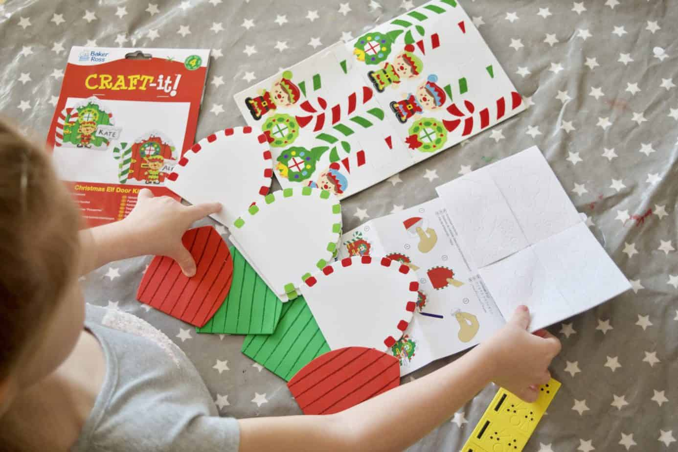The Elf Door Craft Kit provided by Baker Ross as pat of their Christmas Crafts