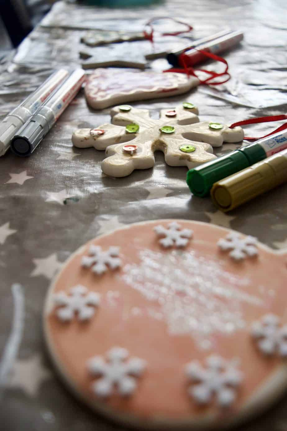 Our Christmas Tree decorations make out of ceramic from Baker Ross