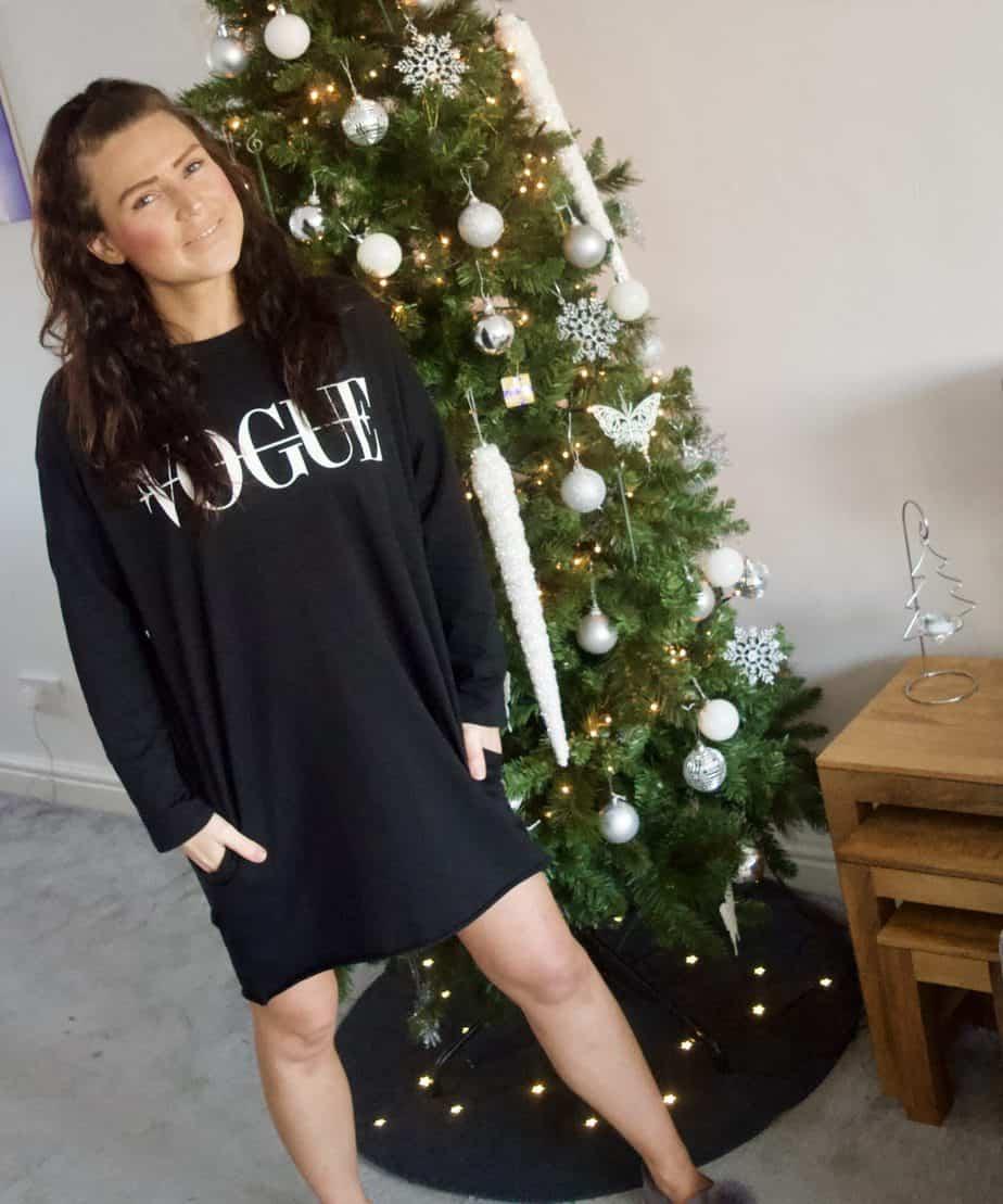 Black Vogue oversized jumper dress