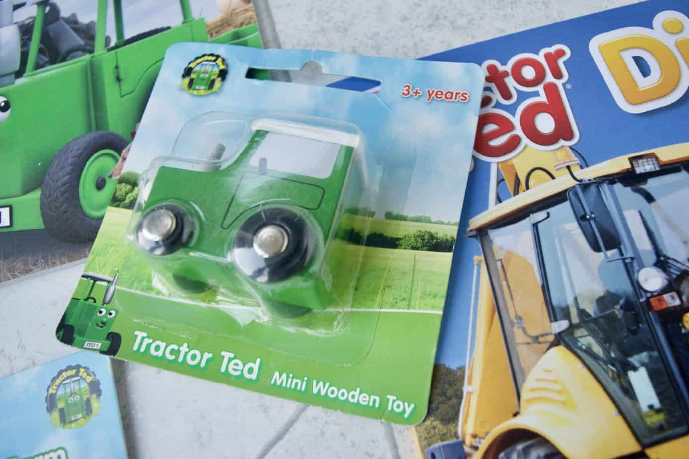 Tractor Ted wooden toy in green