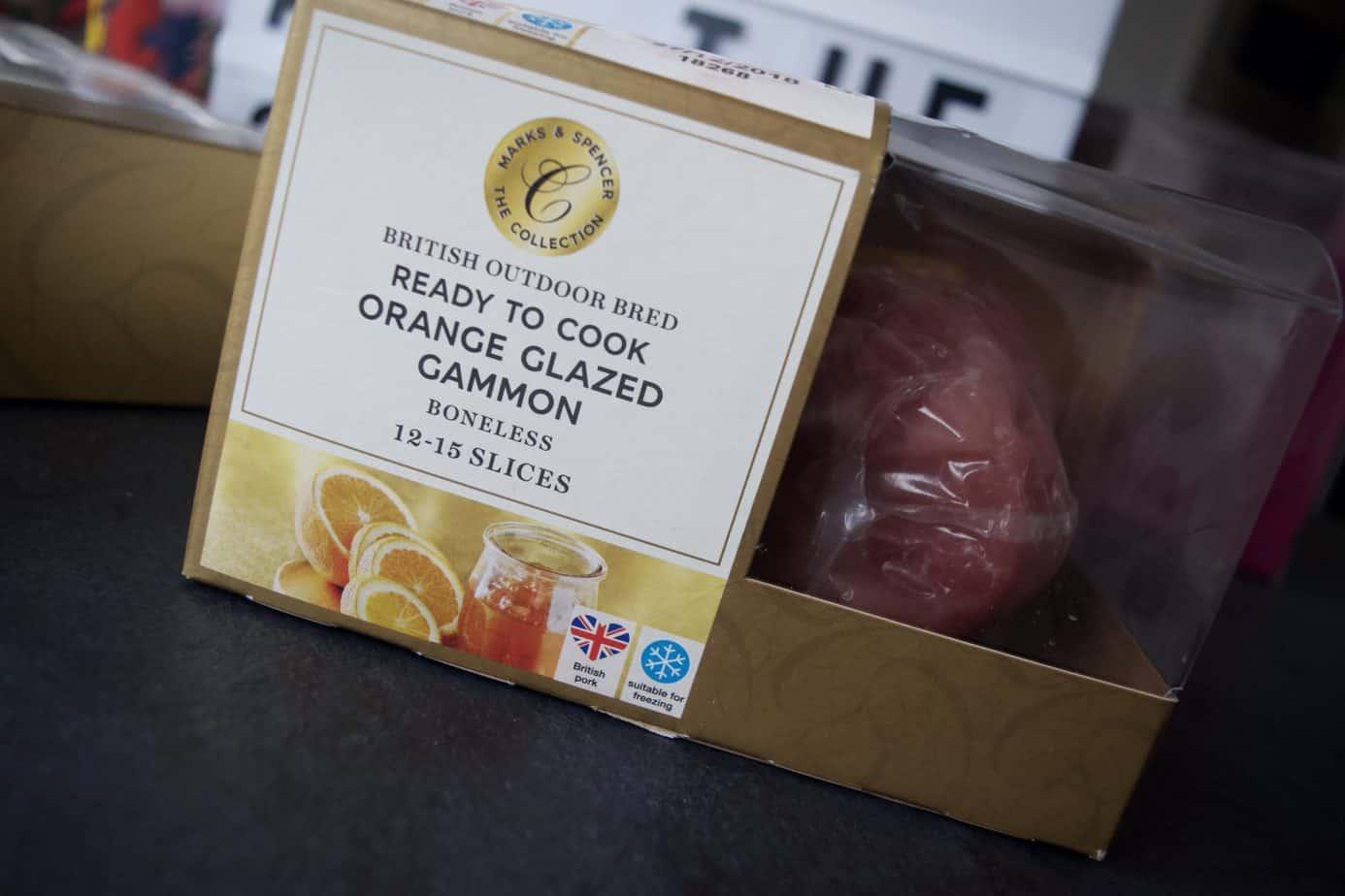 Festive Marks and Spencer treats including orange glazed gammon