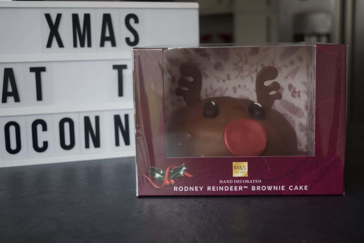 Rodney The Rudolf brownie cake from Marks and Spencer Christmas range