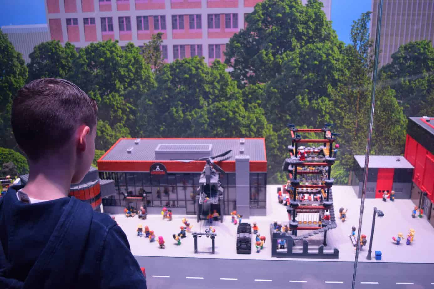 NEC and Bear Grylls adventure made out of Lego and Legoland Discovery Centre Birmingham